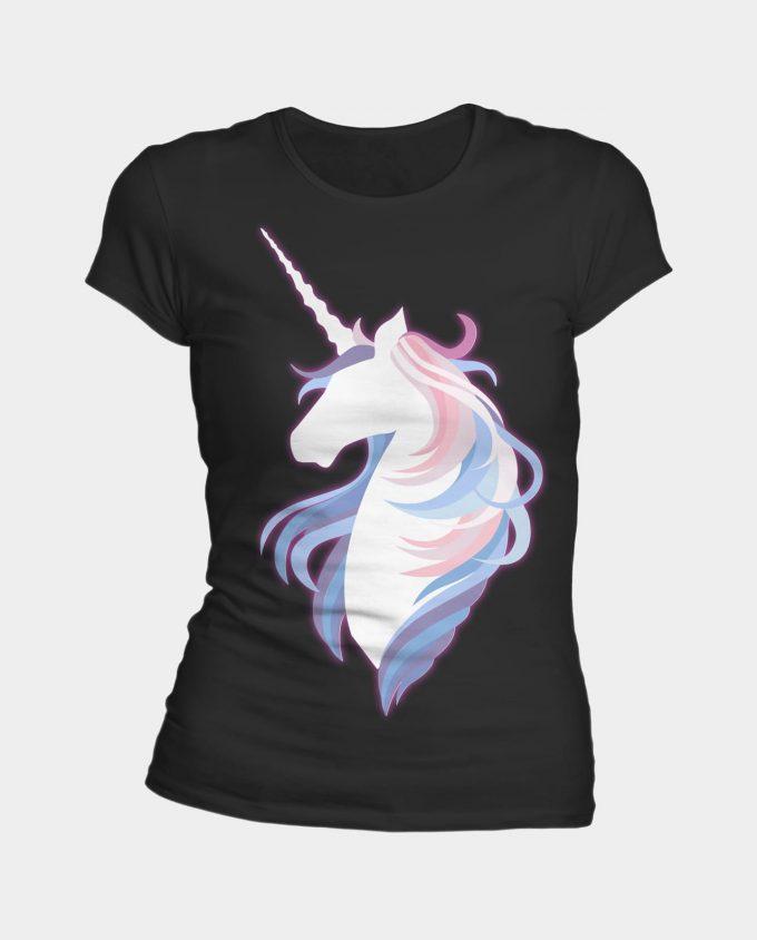 T-shirt je suis une licorne en noir.