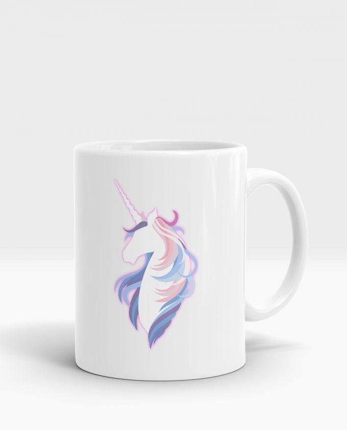 Mug licorne blanc multicolore pas cher